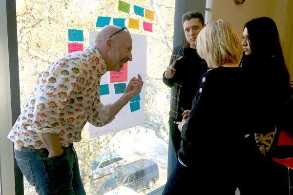 Toby Scott facilitating a Creative Problem Solving workshop